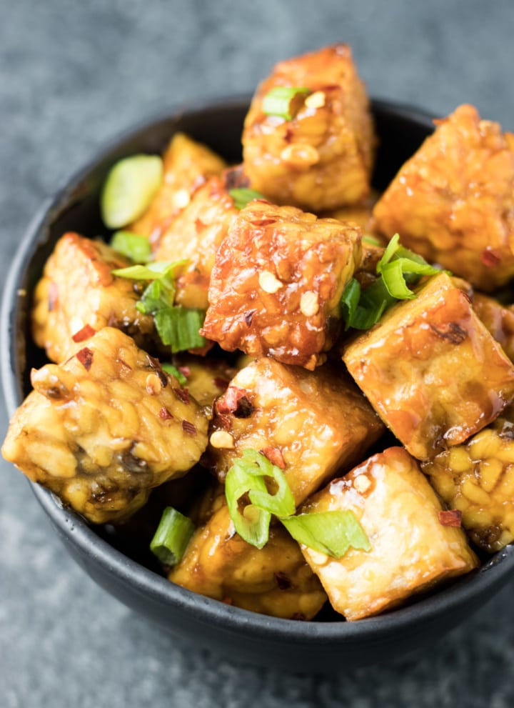 Low FODMAP Maple-Soy Glazed Tempeh