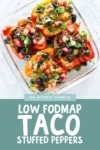 Low FODMAP Taco Stuffed Peppers