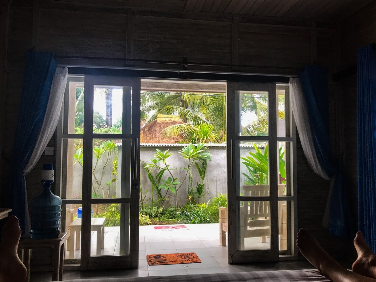 View from inside Vista Huts Lembongan