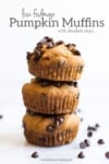 Low FODMAP Pumpkin Muffins with Chocolate Chips