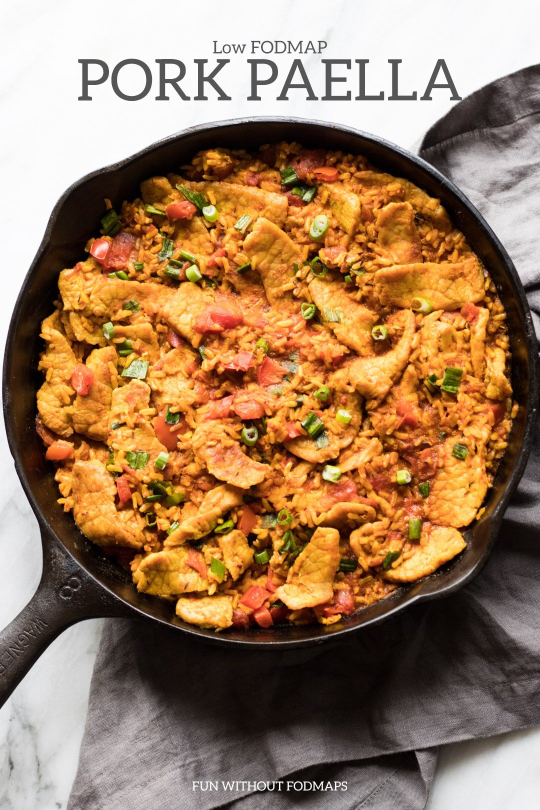 Low FODMAP Pork Paella
