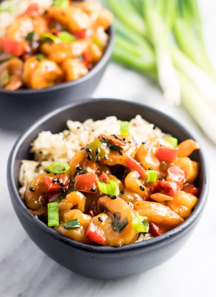 Low FODMAP Shrimp Stir-Fry with Bell Peppers