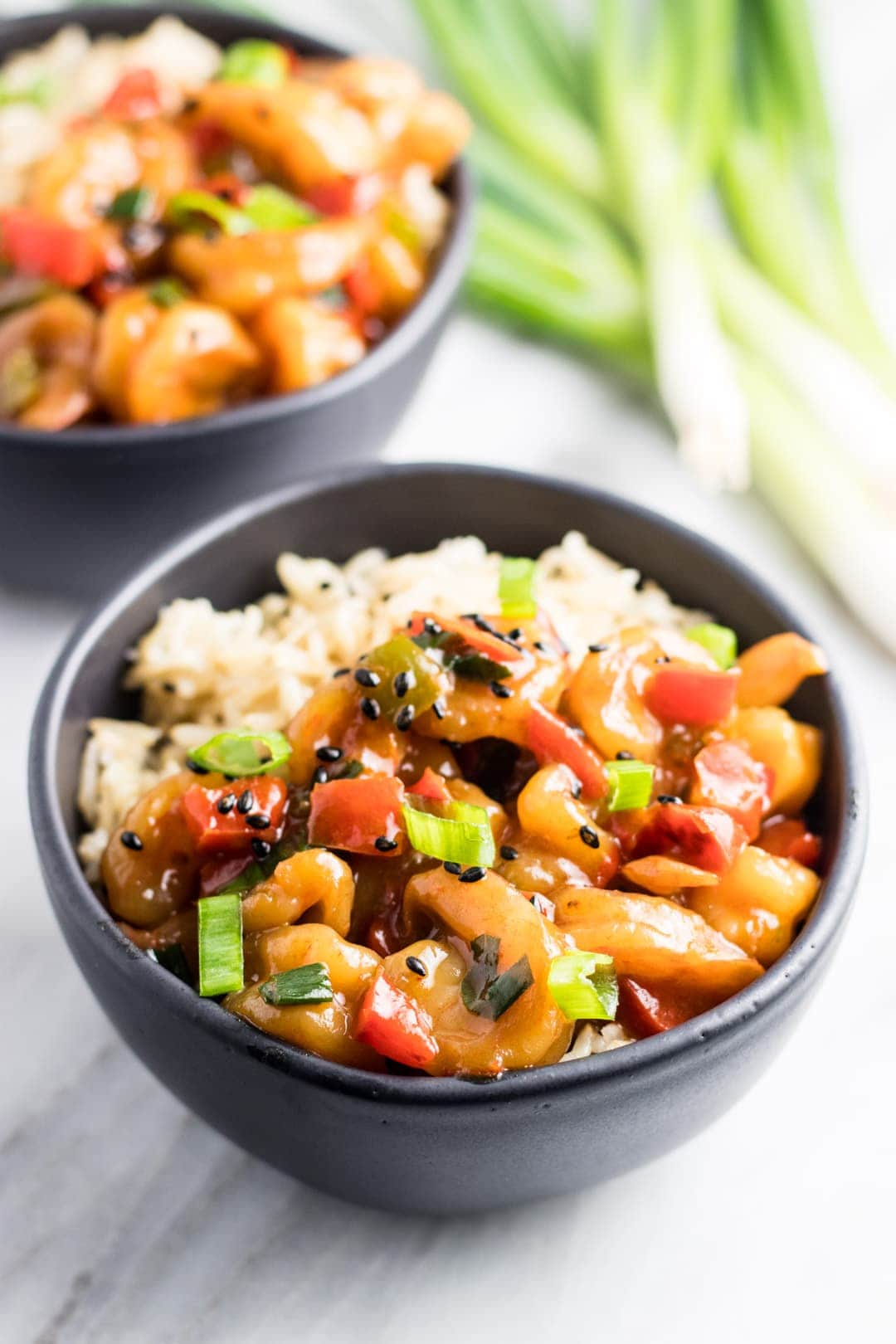 Low FODMAP Shrimp Stir Fry with Bell Peppers