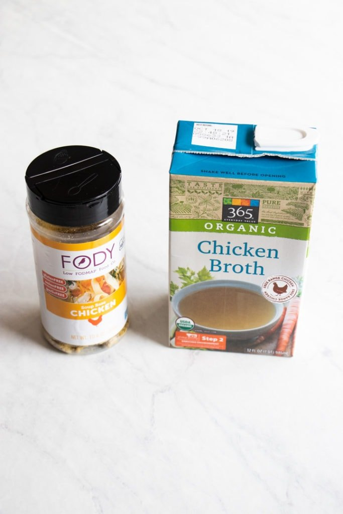 Low FODMAP chicken broths