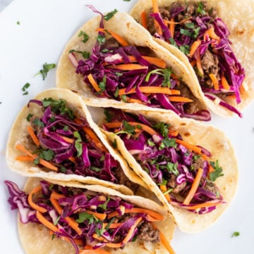 Five low FODMAP Korean tacos