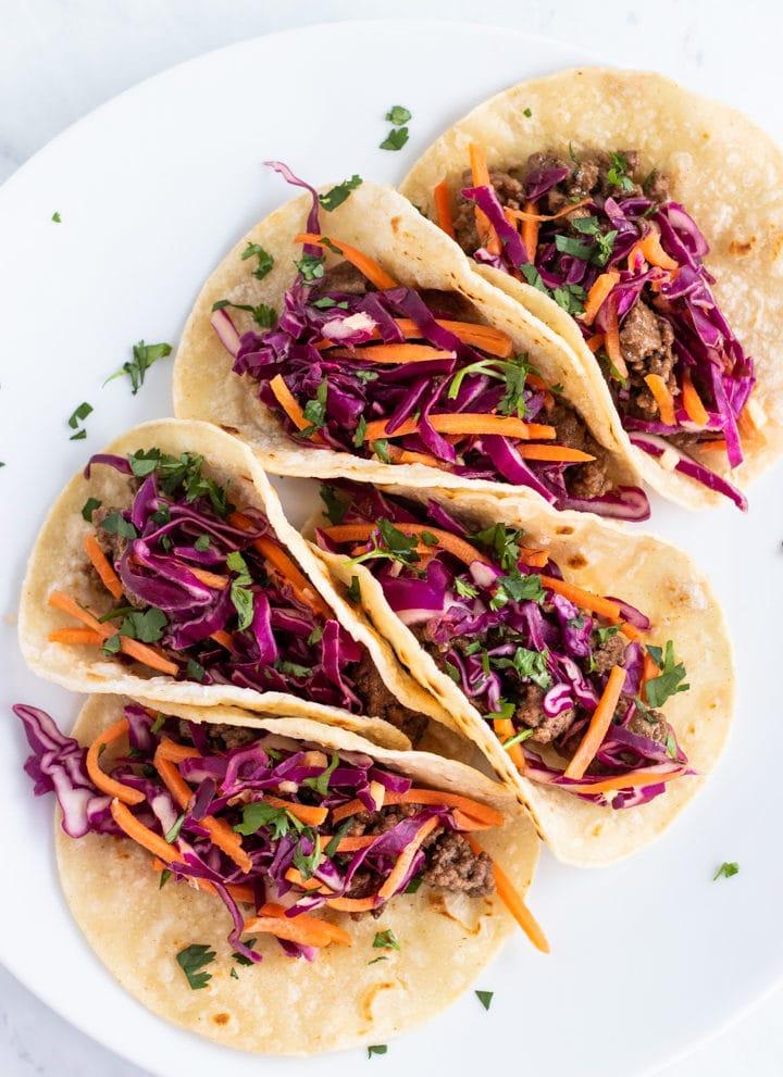 Five low FODMAP Korean tacos